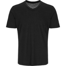 super.natural Base V Neck Tee 140 Herr jet black